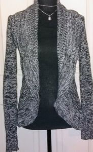Shimmery Black & White cardigan, Small